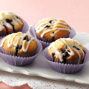 Glazed Lemon Blueberry Muffins