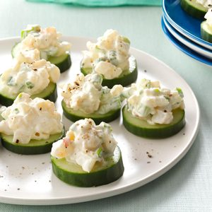 Shrimp & Cucumber Rounds