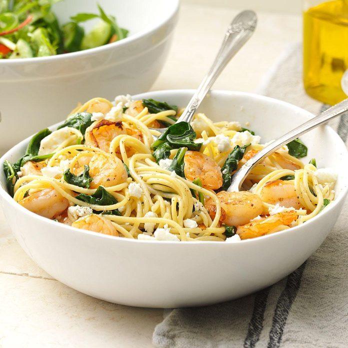 Rosemary Shrimp with Spaghetti