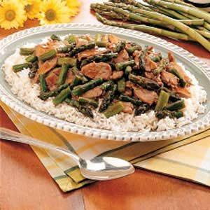 Gingered Pork and Asparagus