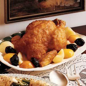 Fruit-Glazed Roast Chicken