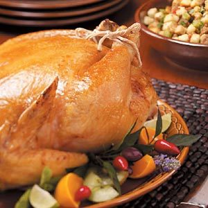 Roasted Chicken with Sausage Stuffing