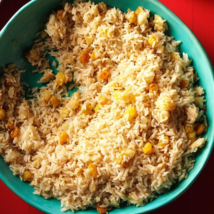 Vegan Rice Pilaf with Apples & Raisins