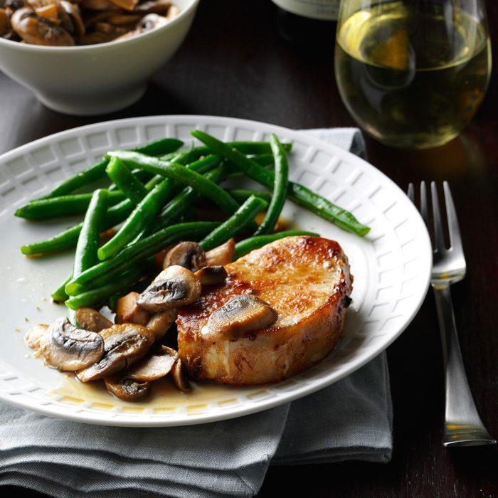 Pork Chops & Mushrooms