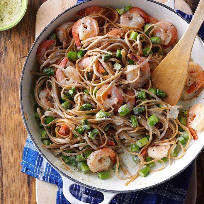Asparagus Shrimp Linguine