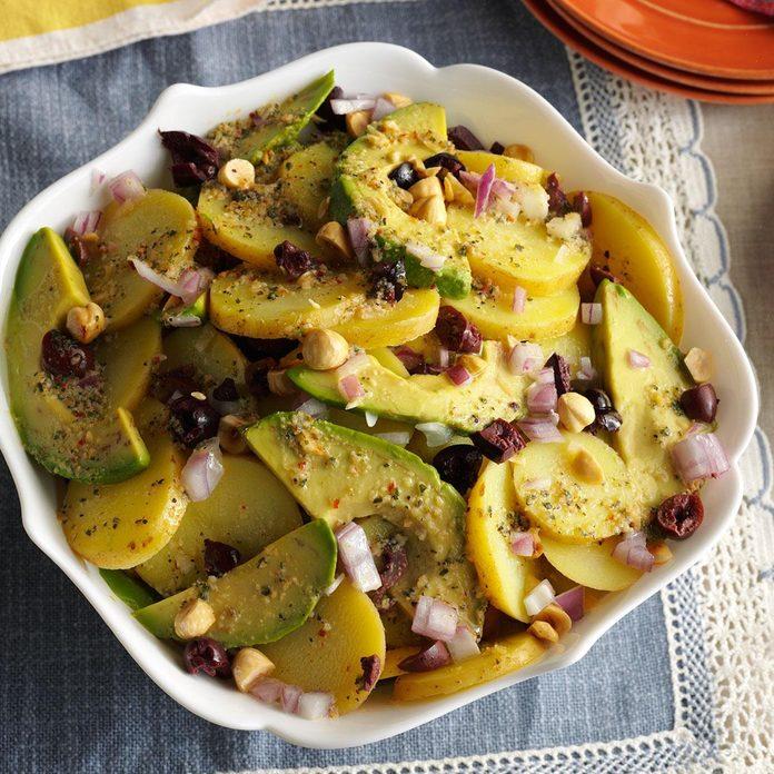 Potato Salad with Kalamata-Hazelnut Vinaigrette