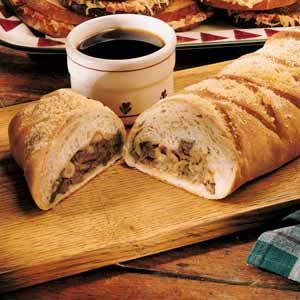 French Onion-Beef Strudel