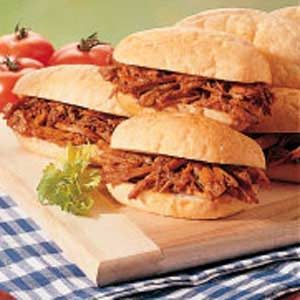 Shredded Pork Sandwiches