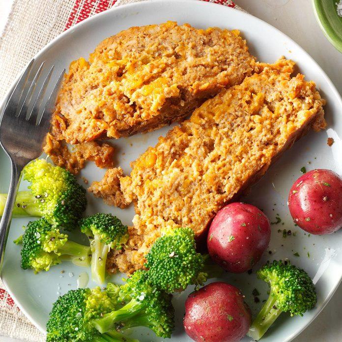 Cheesy Turkey Meat Loaf
