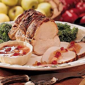 Pork Roast with Apple Topping