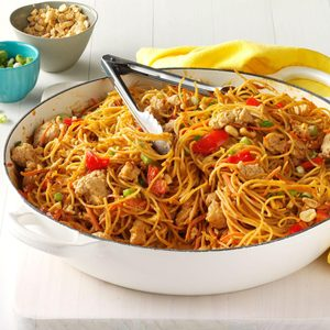 Thai Chicken Peanut Noodles