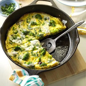 Mediterranean Broccoli & Cheese Omelet