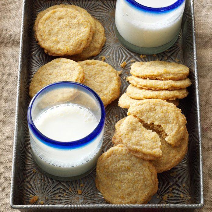 Buttery Orange Sugar Cookies