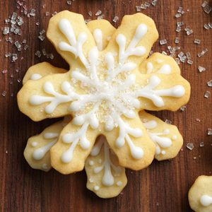 Frosted Snowflake Cookies