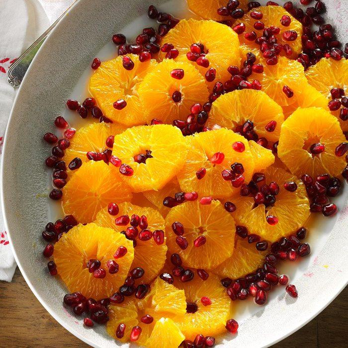 Non-Dairy Orange Pomegranate Salad with Honey