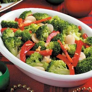 Broccoli with Red Pepper