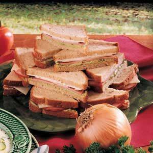 Avocado Ham Sandwiches