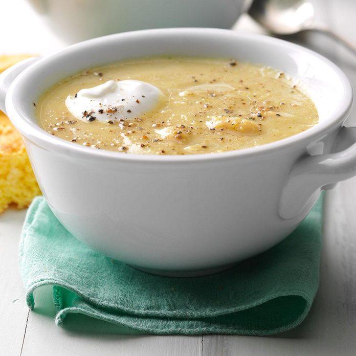 Summer Squash & White Bean Soup