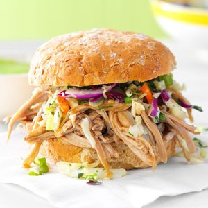 Sesame Pulled Pork Sandwiches
