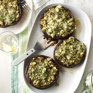Feta-Stuffed Portobello Mushrooms
