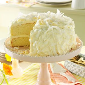 Coconut Cake with White Chocolate Frosting