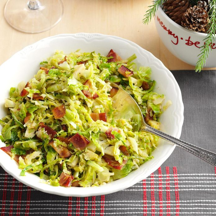 Brussels Sprouts with Bacon & Garlic