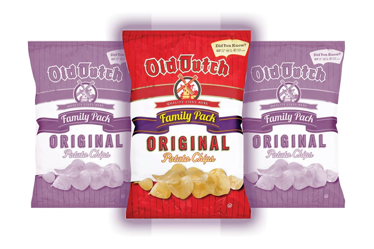 Old Dutch Original Potato Chips Family Pack - 10oz