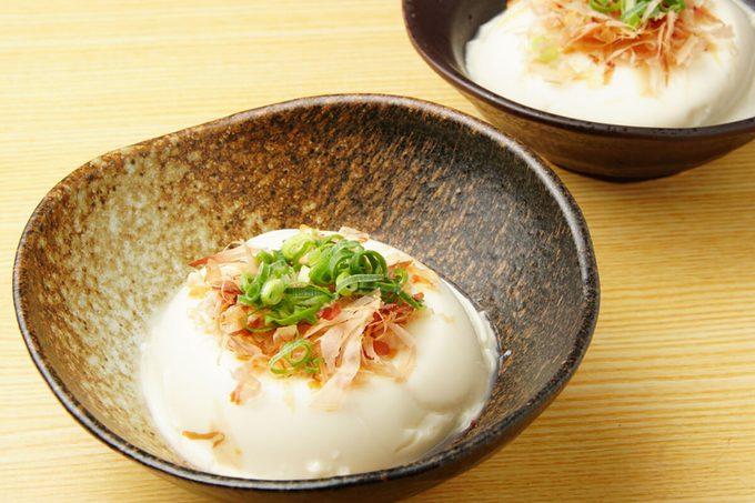 Tofu, Hiyayakko, Japanese food, chilled Tofu