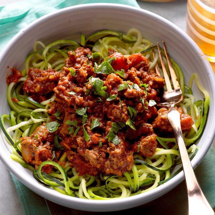 Arrabbiata Sauce with Zucchini Noodles