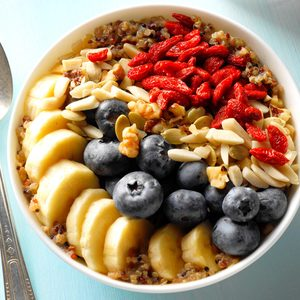 Loaded Quinoa Breakfast Bowl