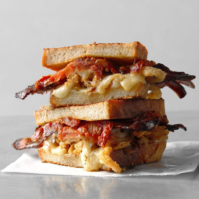 Grilled Cheese, Bacon and Oven-Dried Tomato Sandwich