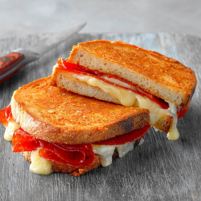 Grilled Cheese and Pepperoni Sandwich