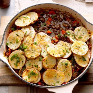 Potato-Topped Ground Beef Skillet