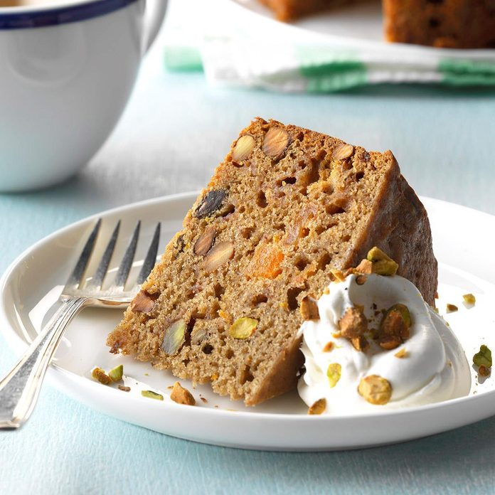 Pressure-Cooker Mixed Fruit and Pistachio Cake