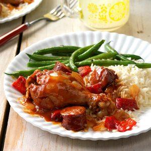 Pressure-Cooker BBQ Chicken & Smoked Sausage