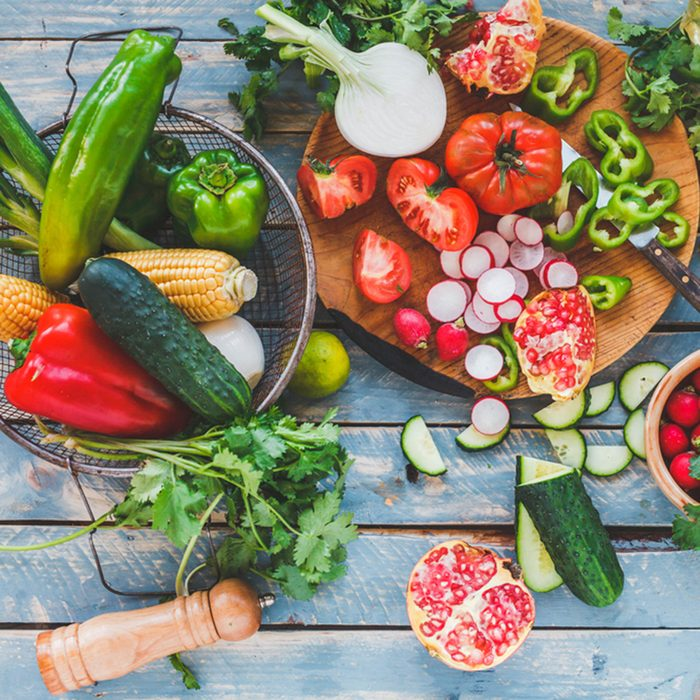 Traditional vegetables used in Arabian cuisine. Vegetables on wood. Bio Healthy food, herbs and spices. Organic vegetables on wood.; Shutterstock ID 326278043