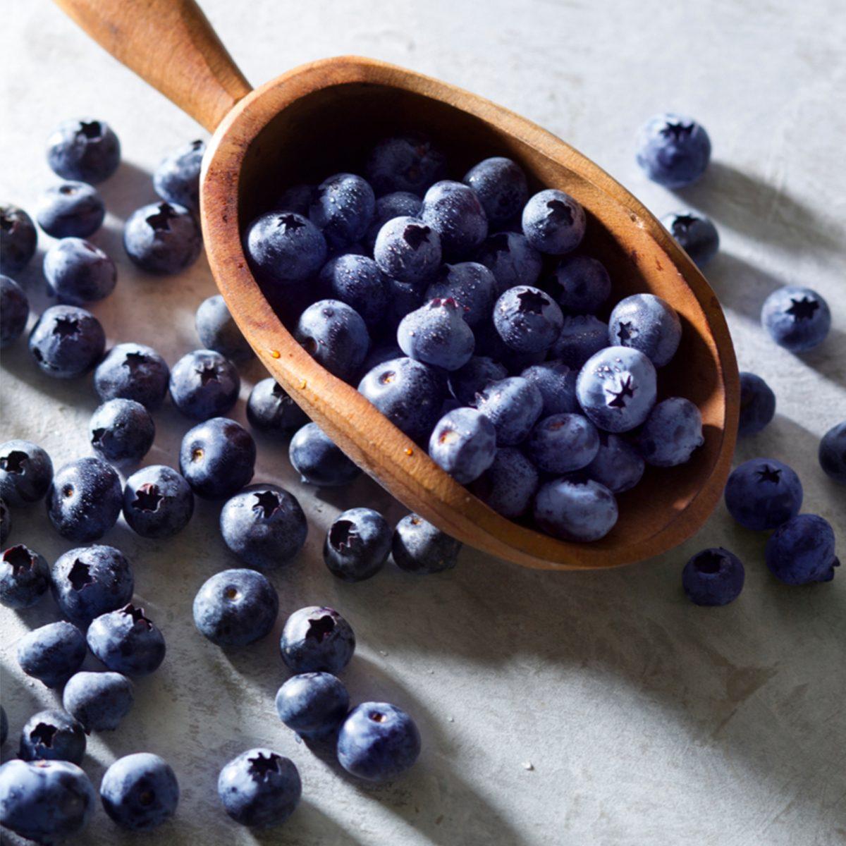 Blueberries in Scoop via Taste of Home
