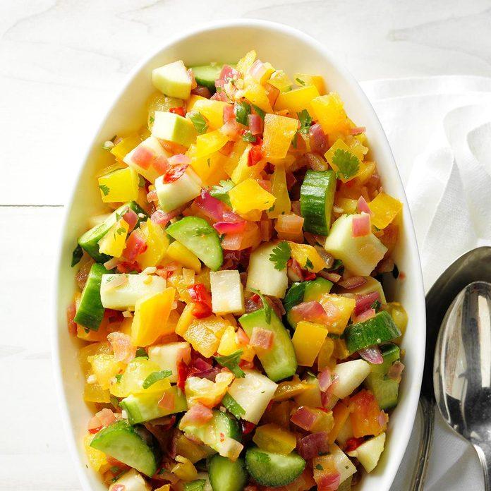 Kohlrabi, Cucumber and Tomato Salad