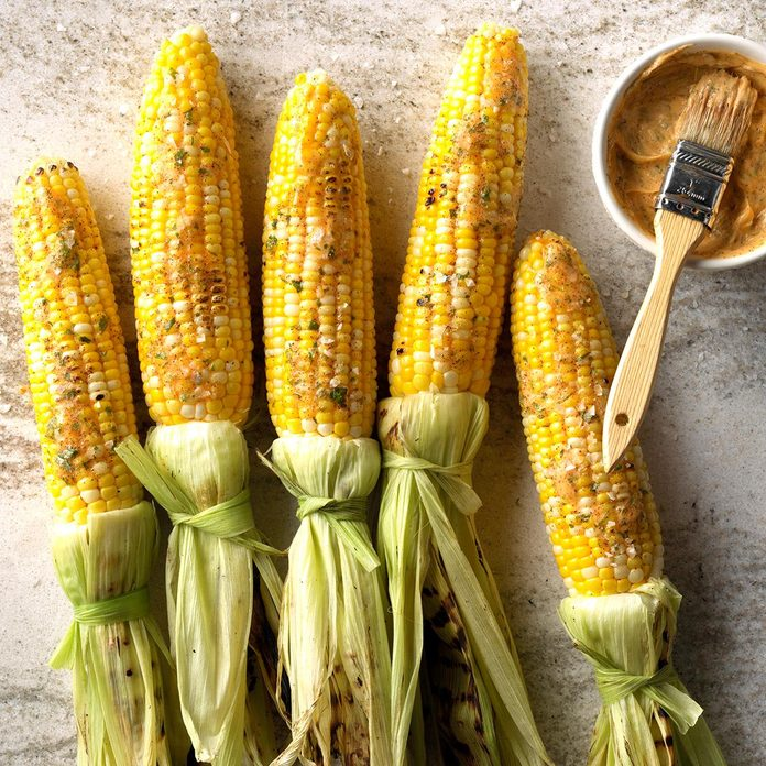 Easy Grilled Corn with Chipotle-Lime Butter