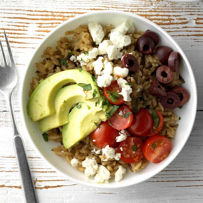 Greek Brown and Wild Rice Bowls