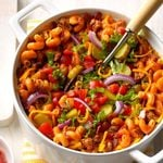 One-Pot Bacon Cheeseburger Pasta