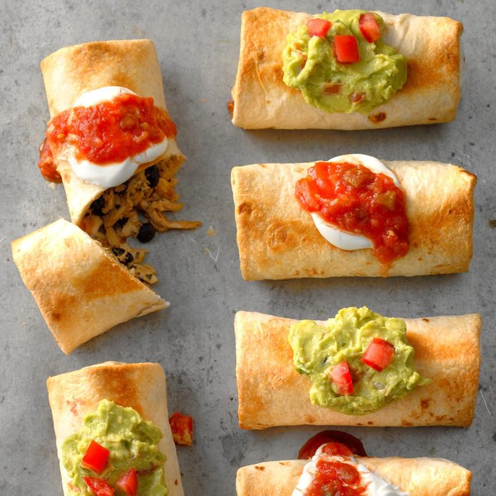 Runner Up: Shortcut Oven-Baked Chicken Chimichangas