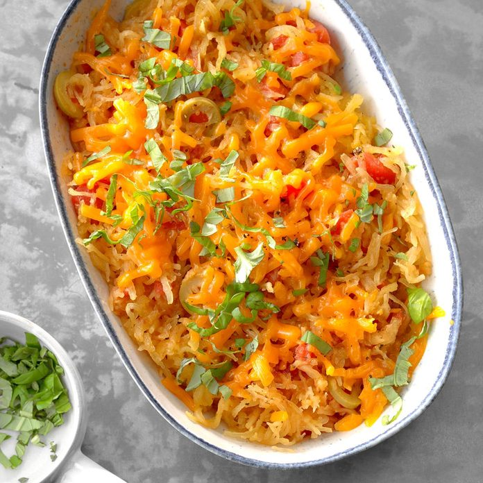 Spaghetti Squash with Tomatoes and Olives