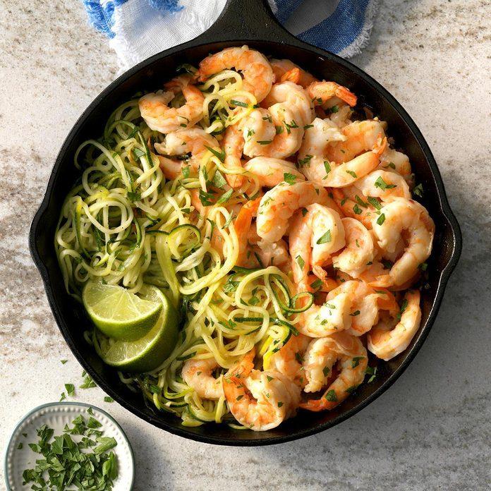 Tequila Lime Shrimp Zoodles