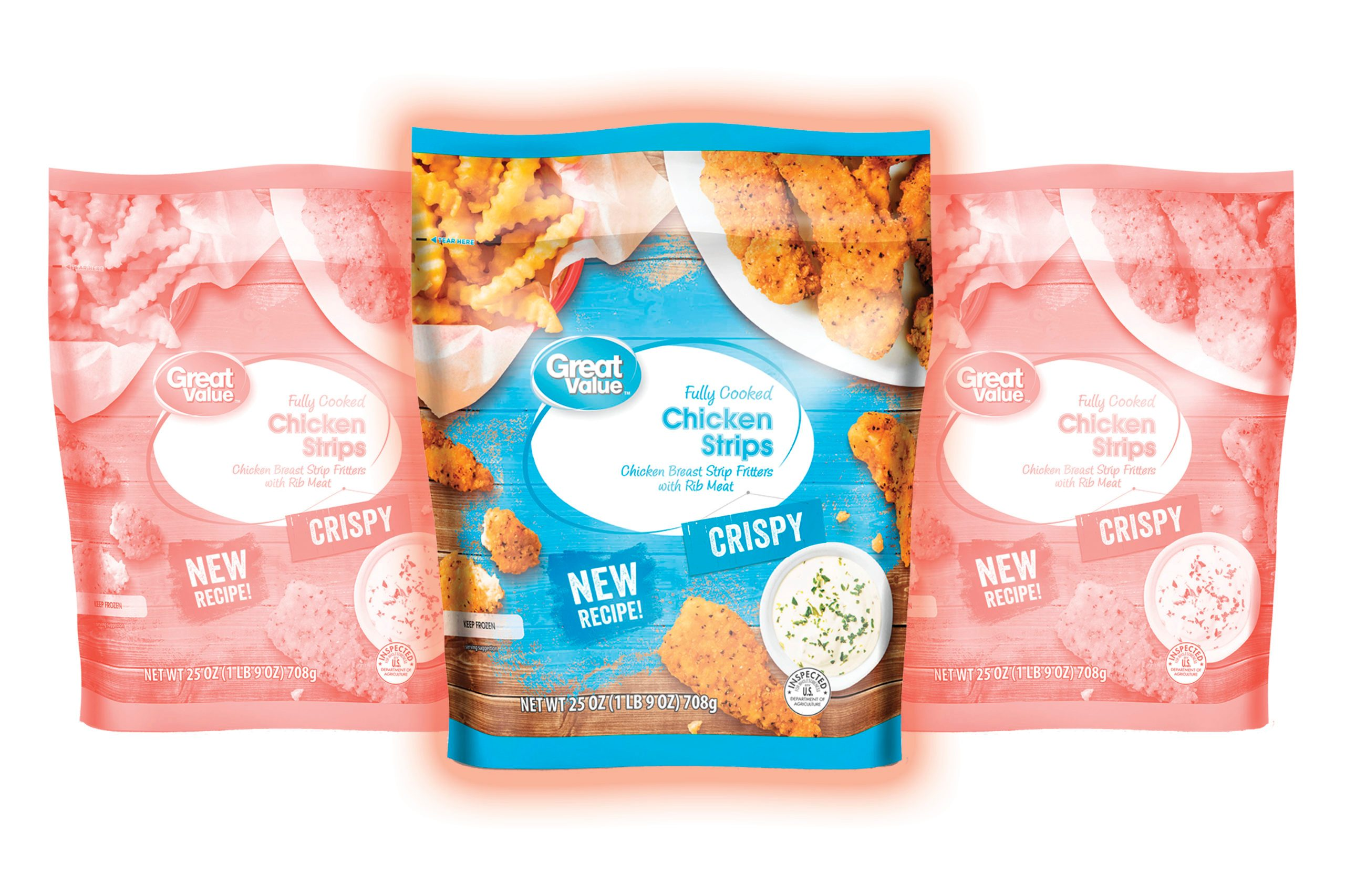Great Value Fully Cooked Crispy Chicken Strips, 25 oz