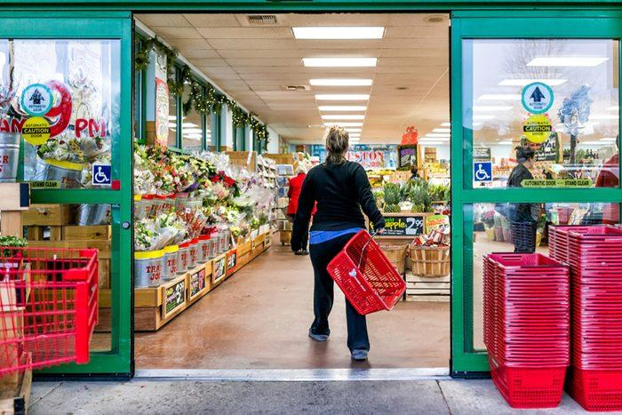 woman shopping trader joe's