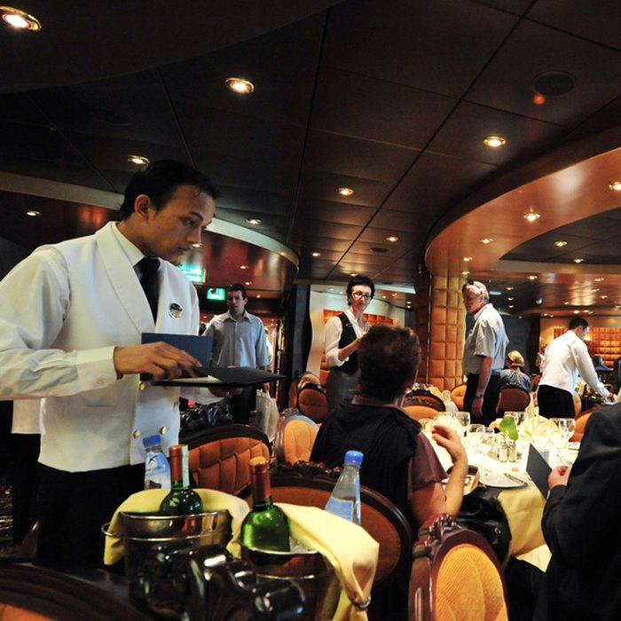 Passengers eats on board MSC - SPLENDIDA