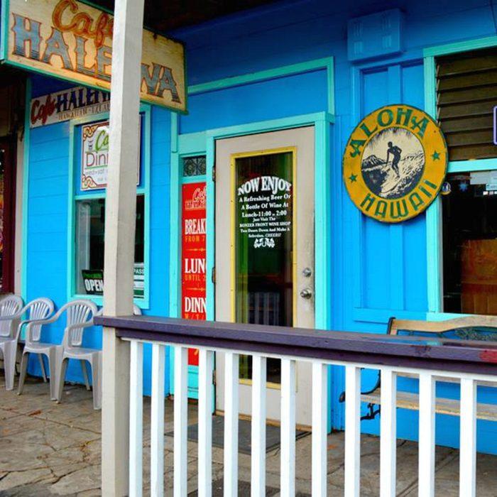 Front door of Cafe Haleiwa