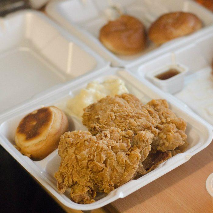 fried chicken from Krispys