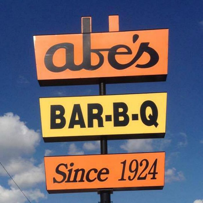Abe's Bar-B-Q sign